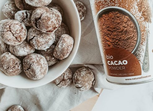 Kokosovi razpokančki s kakavom v prahu